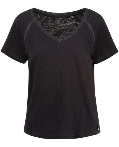 T-shirt met glitterbiesjes
